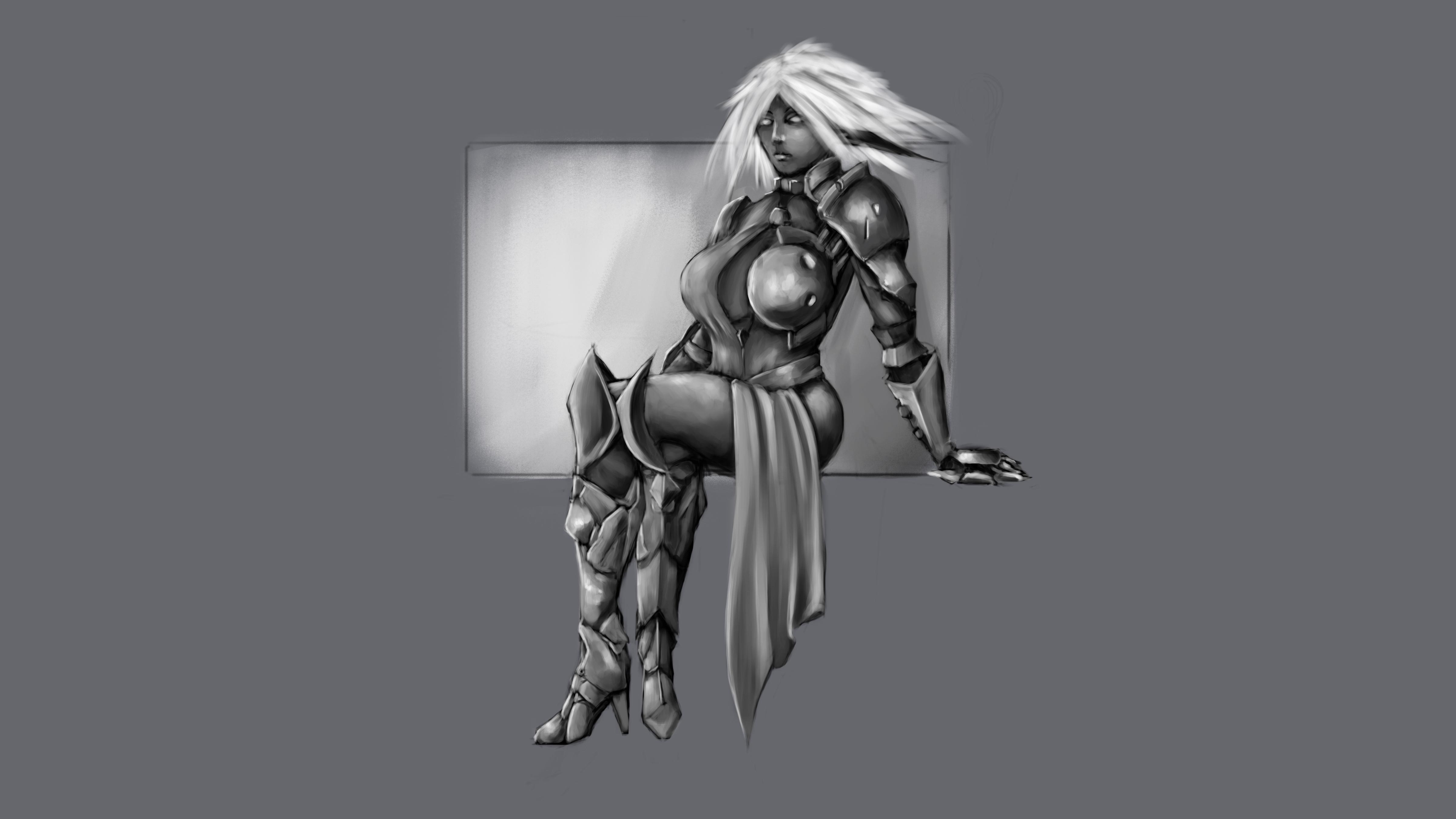 Elf Knight Greyscale