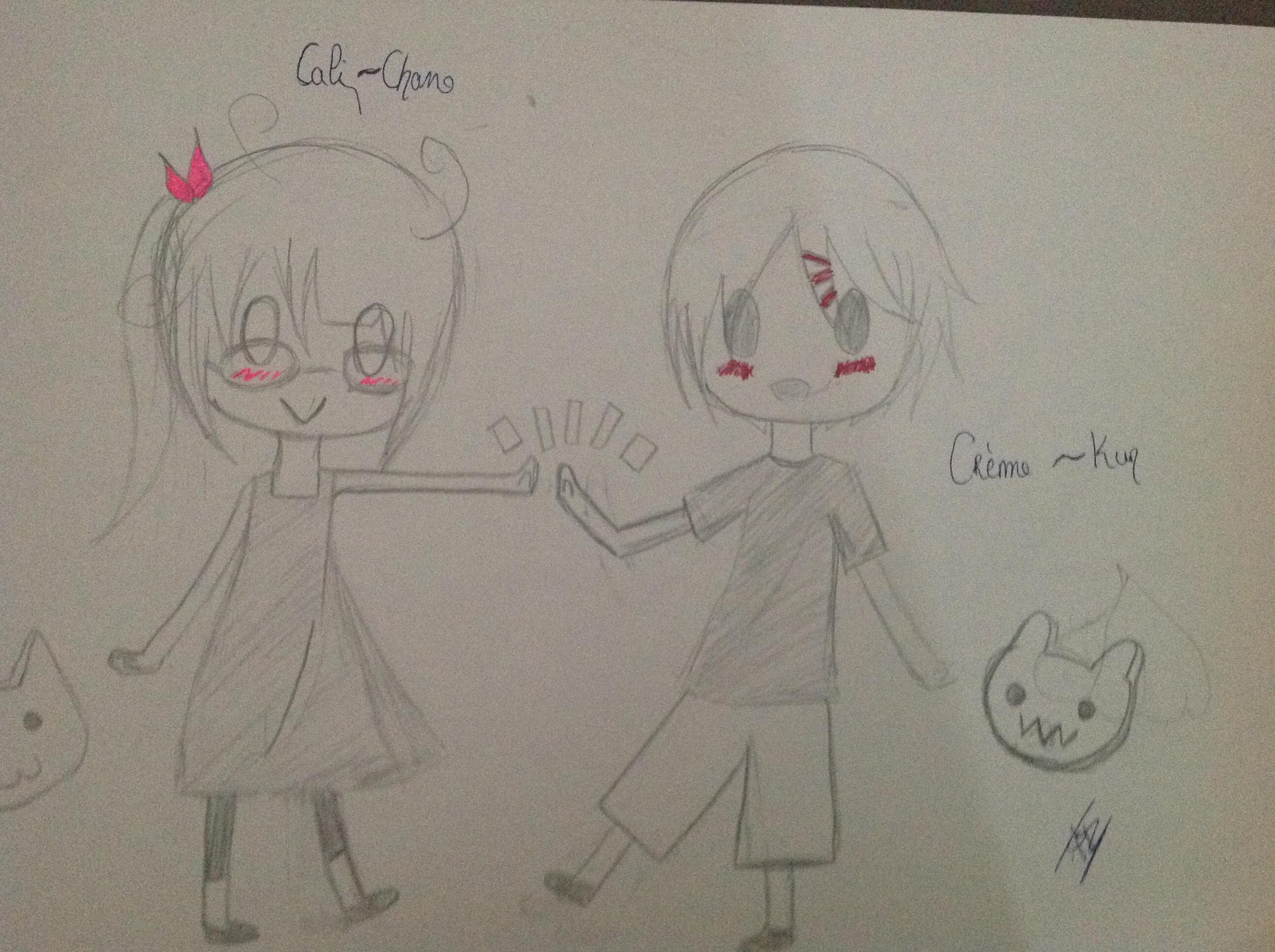 Creme-Kun et Cali-Chan