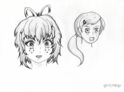 Visages au crayon