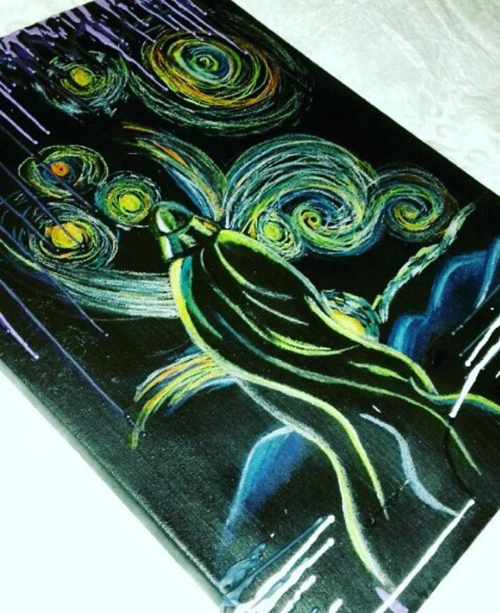 Star wars ( aquarelle, acrylique sur toile )