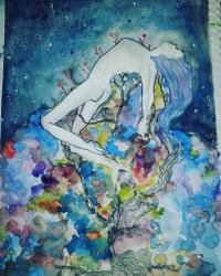 cosmos (aquarelle)