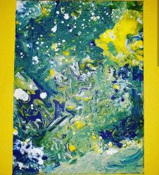 abstrait (acrylique sur toile)
