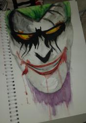 joker (aquarelle/fusain)