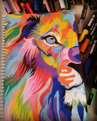Lion (posca)