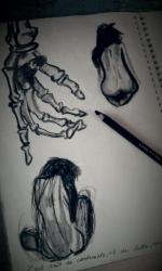 silhouettes (fusain)