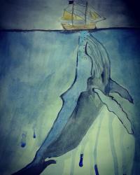 baleine (aquarelle)